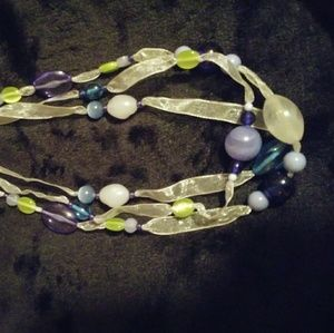 Jewelry - Ribbon Necklace/Bundle w/ 2 more $4 items to save